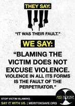 Domestic, family and sexual violence and sexual assault are never the victims fault.